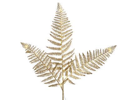 Vánoční LED dekorace -  Kapradí 120 cm - zlatá, Kaemingk
