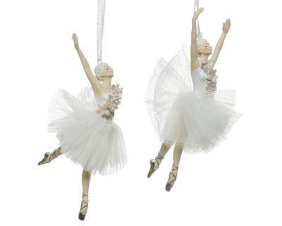 Vánoční ozdoba - Baletka 17 cm - bílá, Kaemingk