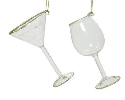 Vánoční ozdoba - Sklenička DRINKING GLASS 10 cm, Kaemingk