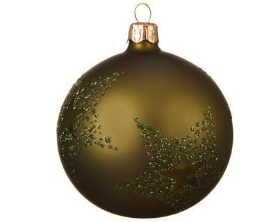 Vánoční ozdoba - Koule STAR DOTS 8 cm - zelená, Kaemingk