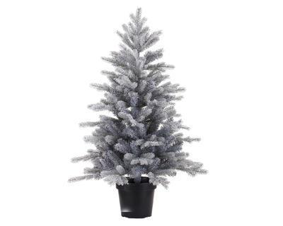 Vánoční mini stromeček v květináči GRANDIS 75 cm - ojíněný, Kaemingk
