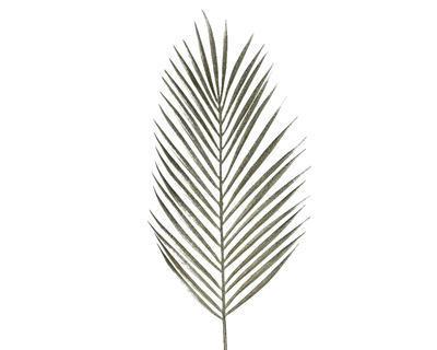 Vánoční umělá květina - List kapradí s glitry 70 cm - šampaň, Kaemingk