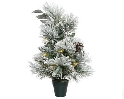 Vánoční stromeček v květináči SNOWY MINI 60 cm - 30 LED, Kaemingk