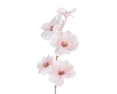 Vánoční umělá květina - Magnólie SPRAY 98 cm - růžová, Kaemingk