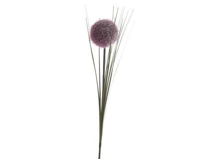 Vánoční umělá květina - Stonek česneku SILK 66 cm - fialová, Kaemingk