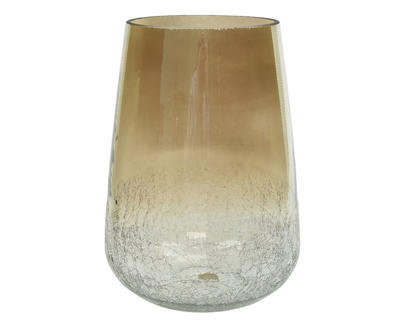 Váza LUSTER CRACLE 20x28 cm - šedá, Kaemingk