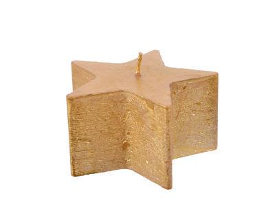 Vánoční svíčka - Hvězda METALLIC 10x5cm - zlatá, Kaemingk
