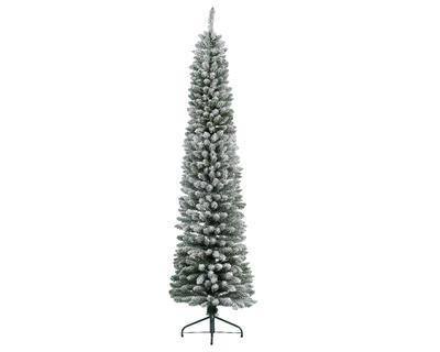 Vánoční umělý stromek - Borovice PENCIL 210 cm - zasněžený, Kaemingk