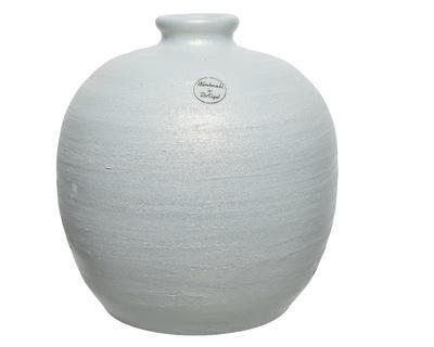 Váza RIM STRUCTURE 26x26 cm - bílá/perleťová, Kaemingk
