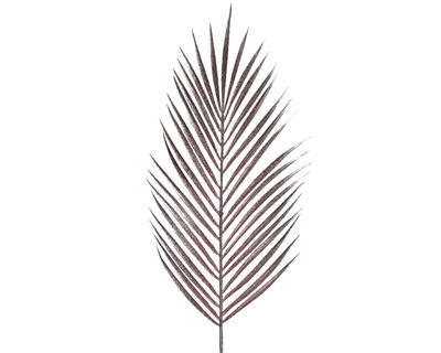 Vánoční umělá květina - List kapradí s glitry 70 cm - sv. růžová, Kaemingk