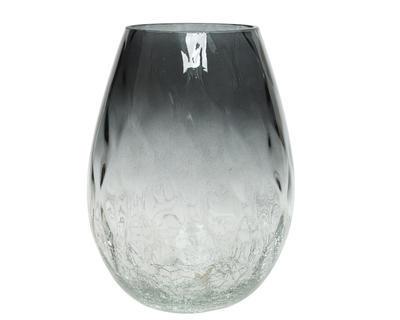 Váza CRACLE BOTTOM 15x20 cm - zelená, Kaemingk
