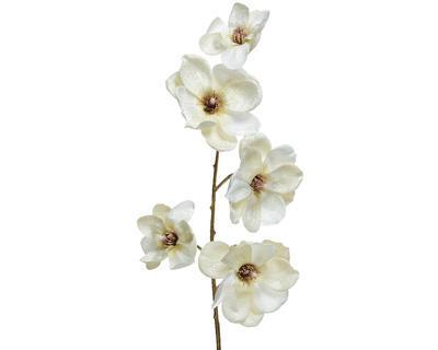 Vánoční umělá květina - Magnólie SPRAY 98 cm - bílá, Kaemingk