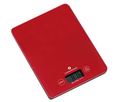 Digitální váha BALANCE 20,5 cm - červená, Zassenhaus