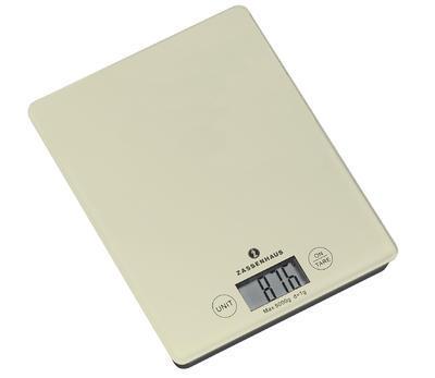 Digitální váha BALANCE 20,5 cm - krémová, Zassenhaus