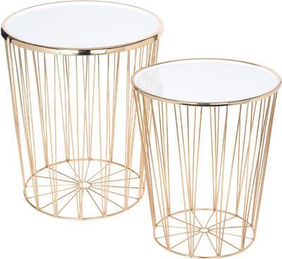 Set dvou přídavných bílých stolků, Koopman