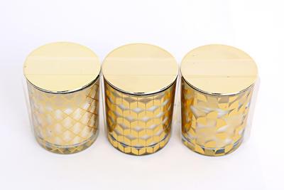 Svíčka s víčkem GOLD, 6x7cm, 3 druhy, Sifcon