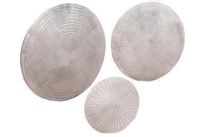 SET 3ks - nástěnná dekorace, stříbrná, Sifcon