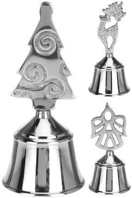 Stříbrný zvoneček 12cm, 3 assort, Koopman