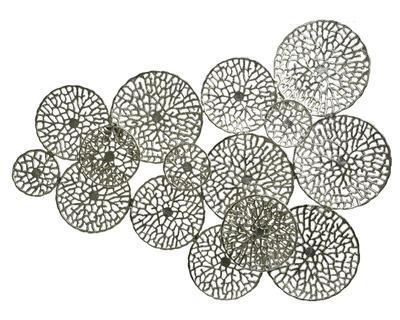 Dekorace nástěnná CORAL 123x90 cm - stříbrná, Kaemingk
