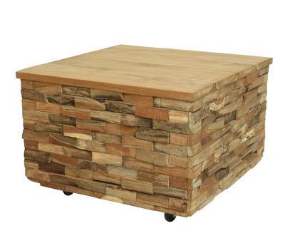 Teakový stůl na kolečkách, 60x60x40cm, Kaemingk
