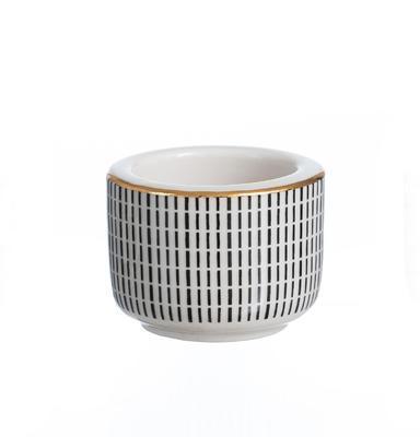 Svícen na čajovou svíčku TAKEO STRIPES GOLD 6 cm, R & B