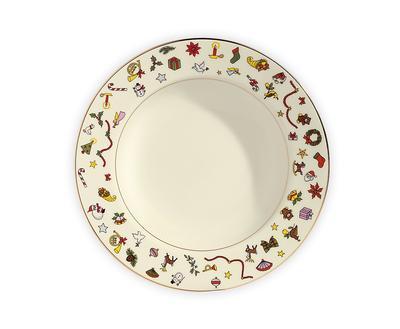 Vánoční talíř polévkový NOEL 22 cm, Taitu
