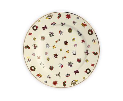 Vánoční talíř dezertní NOEL 16 cm, Taitu