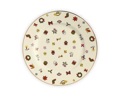 Vánoční talíř salátový NOEL 19 cm, Taitu