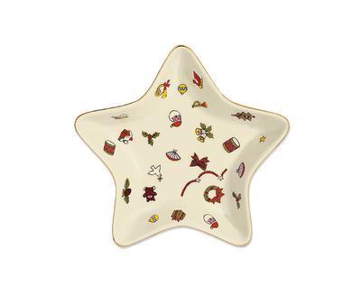 Vánoční miska - hvězda NOEL 15 cm, Taitu