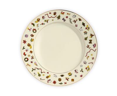 Vánoční talíř jídelní NOEL 26 cm, Taitu