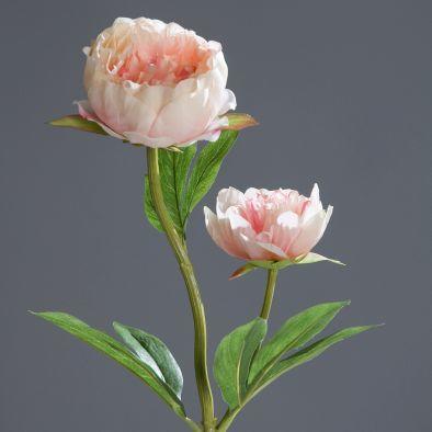 Květina PIVOŇKA 60 cm - růžová, DPI