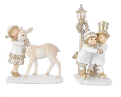 Vánoční dekorace DĚTI , chlapec/ dívka, Kaemingk