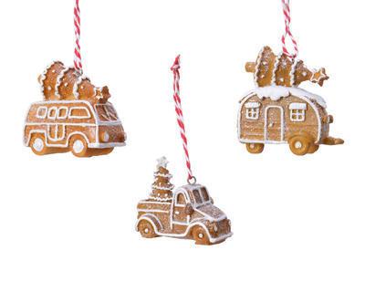 Vánoční ozdoba PERNÍKOVÉ AUTÍČKO, Van auto/obytný přívěs/ pick-up, Kaemingk