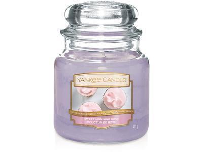 Svíčka Sweet Morning Rose - sklo č.2, Yankee Candle