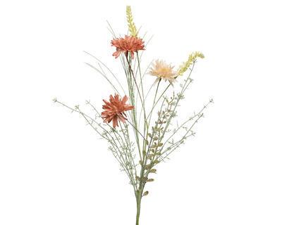 Svazek - mix květin, 13x20x60cm, oranžový, Kaemingk