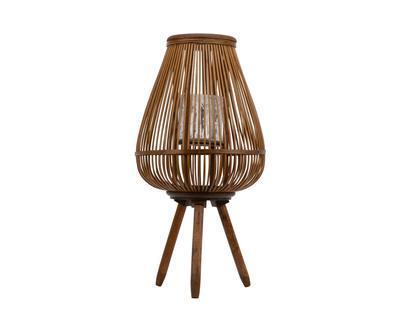 Bambusová lucerna, 34x34x43cm, hnědá, Kaemingk