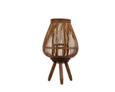 Bambusová lucerna, 27x27x31cm, hnědá, Kaemingk
