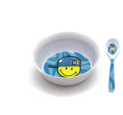 Set snídaňový SMILEY KID 2 ks - modrá, Zak!