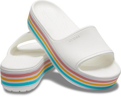 Pantofle CB PLATFORM BLD COLOR SLIDE M9/W11 white, Crocs