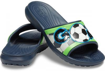 Pantofle SPORTS FAN SLIDE KIDS J2 navy, Crocs