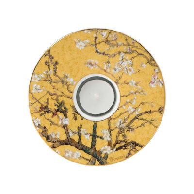Svícen ARTIS ORBIS V. van Gogh - Almond Tree Golden - 15 cm, Goebel