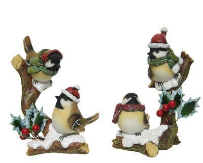 Vánoční dekorace - Ptáček na větvi 13 cm, Kaemingk