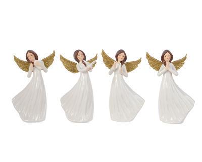 Vánoční dekorace - Andělíček 13 cm - bílá/zlatá, Kaemingk