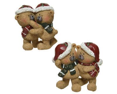 Vánoční dekorace - Medvídci 8 cm - hnědá, Kaemingk