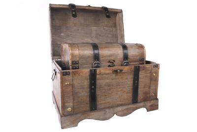 Set 2 ks - Truhly dřevěné WOODEN TRUNKS, Sifcon