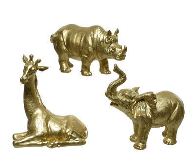Dekorace, 6x15,5x8,5cm, zlatá, 3 druhy, Kaemingk