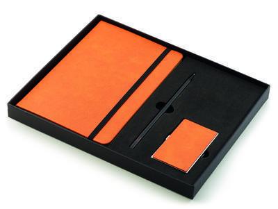 Dárkový set - vizitkář, zápisník a tužka NOTES, Philippi