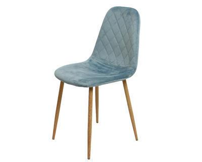 Židle jídelní VELVET 44x47x87cm - sv.modrá, Kaemingk