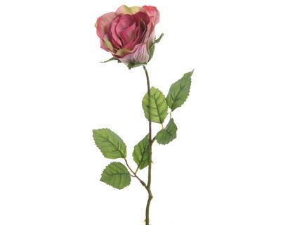 Květina RŮŽE POUPĚ 45 cm - růžová, Kaemingk