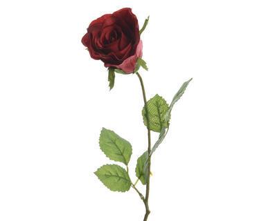 Květina RŮŽE POUPĚ 45 cm - červená, Kaemingk
